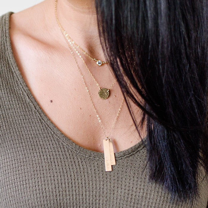 VERTICAL (DOUBLE) BAR NECKLACE