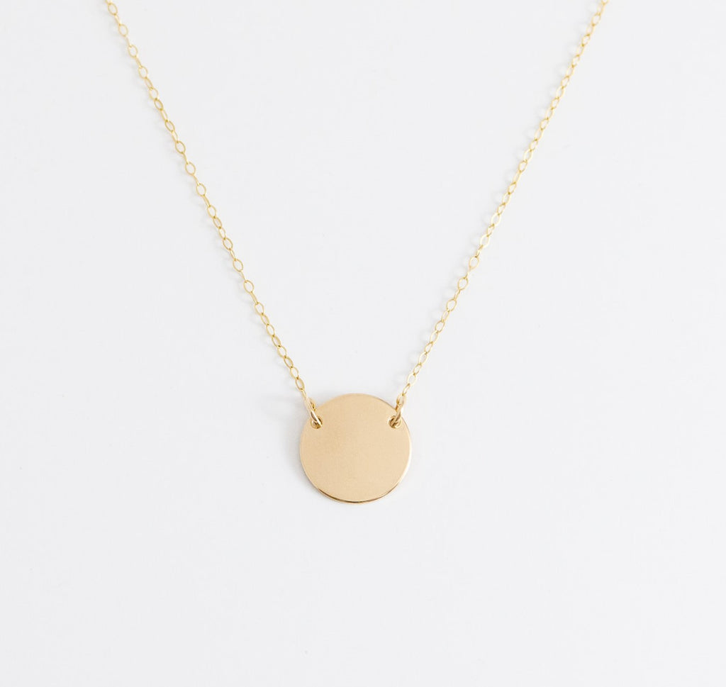 DROP DISC (LARGE) NECKLACE