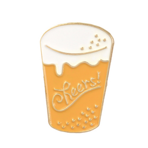 Cheers Cider Enamel Pin for Empowered Women