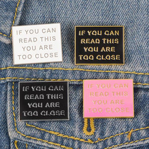 If You Can Read This Enamel Pin by Empowerologist