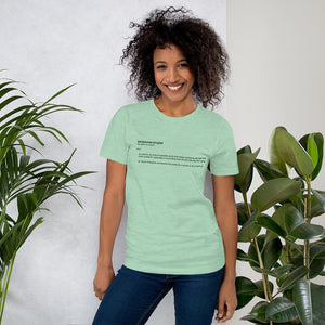 Empowerologist Mint Cotton T-Shirt for Women