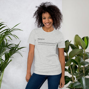 Empowerologist Grey Cotton T-Shirt for Women