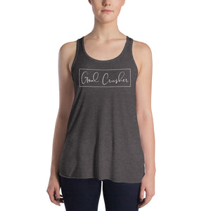 Goal Crusher Grey Racerback Tank for Women by Empowerologist