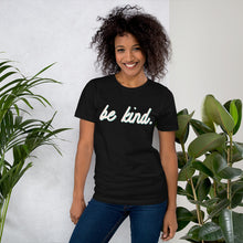Load image into Gallery viewer, Be Kind Black Cotton T-Shirt for Women by Empowerologist