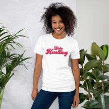Load image into Gallery viewer, Side Hustling White Cotton T-Shirt for Women by Empowerologist