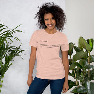 Empowerologist Peach Cotton T-Shirt for Women