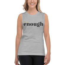 Load image into Gallery viewer, I Am Enough Grey Muscle Tank for Women by Empowerologist