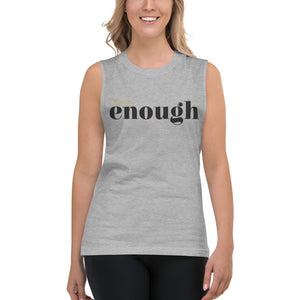 I Am Enough Grey Muscle Tank for Women by Empowerologist