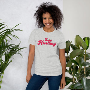 Side Hustling Grey Cotton T-Shirt for Women by Empowerologist