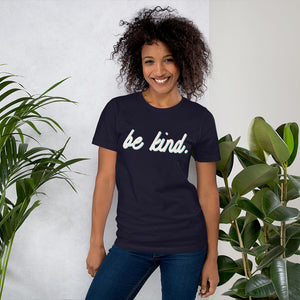 Be Kind Blue Cotton T-Shirt for Women by Empowerologist