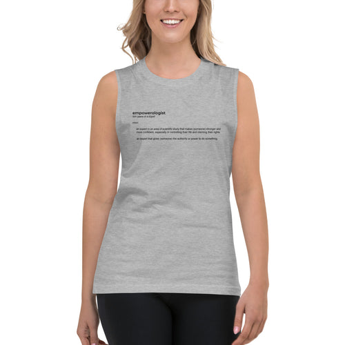 Empowerologist Grey Muscle Tank for Women