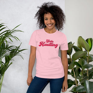 Side Hustling Pink Cotton T-Shirt for Women by Empowerologist