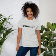 Load image into Gallery viewer, I Am Enough Light Grey Cotton T-Shirt for Women by Empowerologist