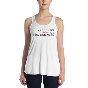 I Don't Do Drama White Racerback Tank Top for Women by Empowerologist