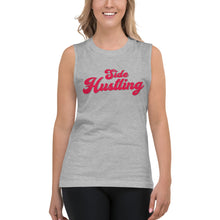 Load image into Gallery viewer, Side Hustling Grey Womens Muscle Tank Top by Empowerologist