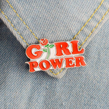 Load image into Gallery viewer, Girl Power Enamel Pin