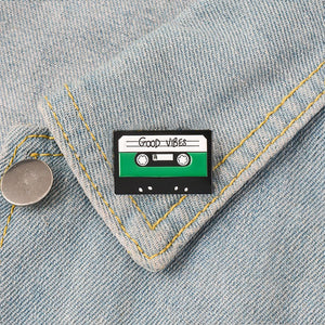 Good Vibes Cassette Tape Enamel Pin