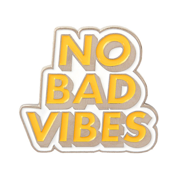 No Bad Vibes Enamel Pin for Women by Empowerologist