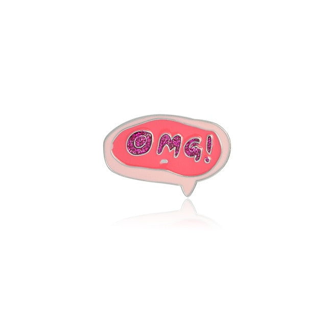 OMG Enamel Pin for Women by Empowerologist