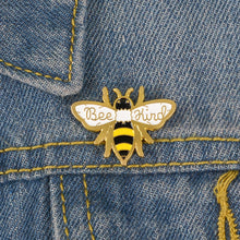 Load image into Gallery viewer, Bee Kind Enamel Pin from Empowerologist