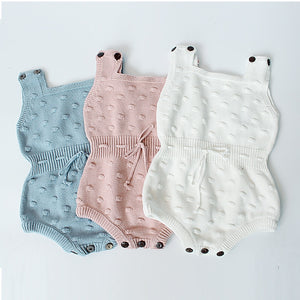 Knitted Dotted Romper (3 Colors)