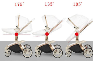 Luxe PU Leather 3 in 1 Stroller