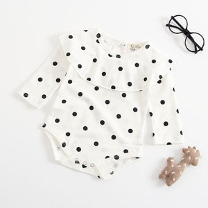 Polka Dot Frilled Romper