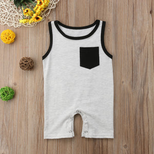 Sleeveless Pocket Romper (2 Colors)