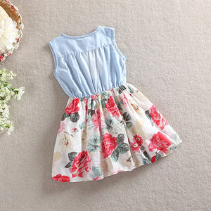 Silk Floral Ruffle Dress