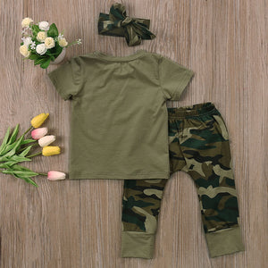 Daddy's Girl or Boy T-Shirt Camouflage Pants Outfit