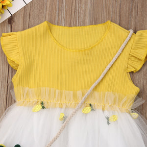 Lace Pineapple Tutu Dress + Bag