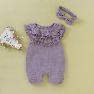 Ruffled Romper with headband