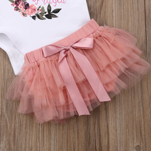 Floral Blessing Romper Tutu Skirt Outfit