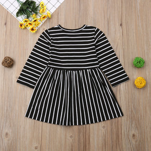 Black White Striped Dress