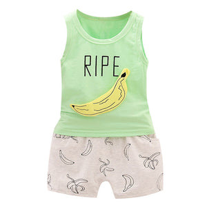 Banana Vest Shorts Outfit (Multiple Colors)