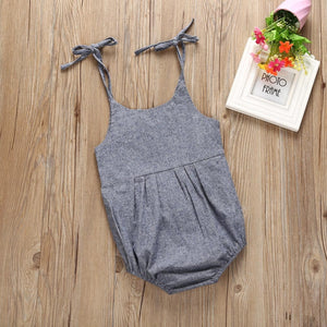 Lace Gray Romper
