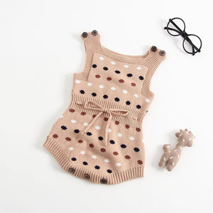 Knitted Polka Dot Onesie