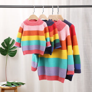 Matching Rainbow Sweaters