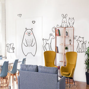 Cartoon Animal Wall Stickers