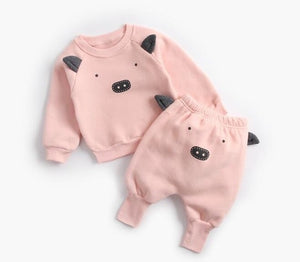 Animal Printed 2-Piece Sweatshirt Set