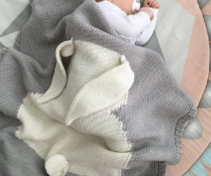 Knitted Bunny Baby Blanket