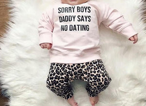 No Dating Baby Girl Set