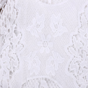 Baby Lace Ruffle Romper d1