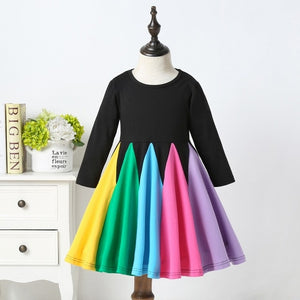 Rainbow Dance Long Sleeve Dress