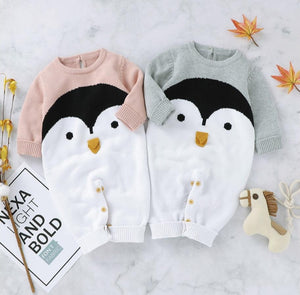 Knitted Penguin Romper
