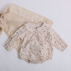 Vintage Baby Girl Linen Outfit
