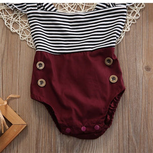 Baby Striped Romper Set d1