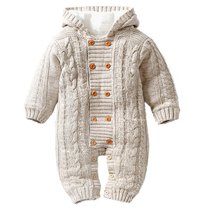 Knit Hooded Onesie