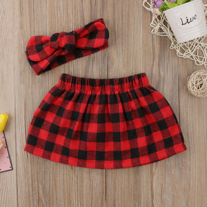 Plaid Skirt Headband Outfit