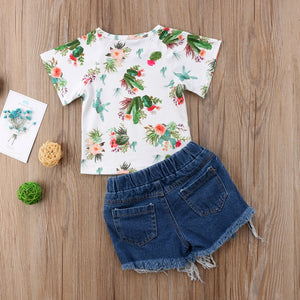Cactus T-Shirt Denim Shorts Outfit